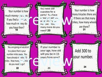 2nd Grade Math Task Cards End-of-the-Year Mix of Common Core