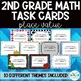 2nd Grade Math Task Cards - 10 Themes! - GROWING BUNDLE