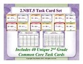 2nd Grade Math Task Cards 2 NBT.5 Add & Subtract Within 100 2.NBT.5