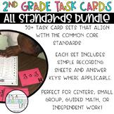2nd Grade Math Task Cards   ALL Standards GROWING Bundle!