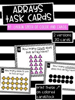 2nd Grade Math Task Cards - Arrays