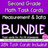 2nd Grade Math Task Cards Bundle- 2.MD.1-2.MD.10