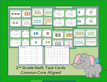 2nd Grade OA Task Cards 2.OA: ALL Operations & Algebraic Thinking Task Cards OA
