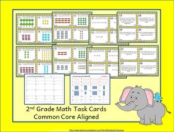 2nd Grade OA Task Cards 2.OA: ALL Operations & Algebraic Thinking Task Cards OA