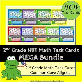 2nd Grade NBT Task Cards: ALL Number & Operations in Base Ten Task Cards 2.NBT