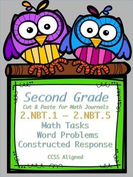 2nd Grade Math Tasks 2.NBT.1 - 2.NBT.5