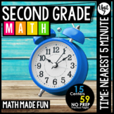 2nd Grade Math: Telling Time to the Nearest 5 Minutes
