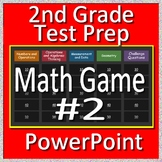 2nd Grade Test Prep Math Game #2 Spiral Review CCSS for use in PowerPoint