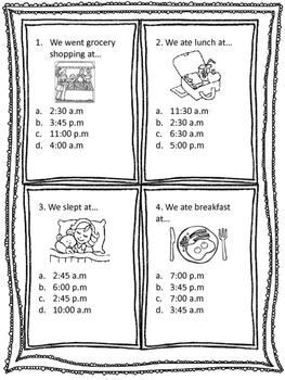 2nd Grade Math Time Assessment