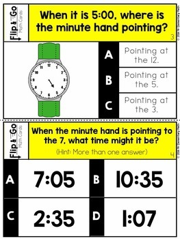 Time - 2nd Grade Math Flip and Go Cards