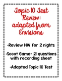 2nd Grade Math Topic 10 Test & Test Review Pack adapted fr