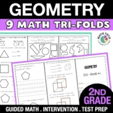 2nd Grade Geometry: Partition Shapes, Shape Attributes   Digital Math Worksheets