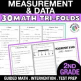 2nd Grade Measure Length & Time, Represent Data - 2.MD.1 - 2.MD.10