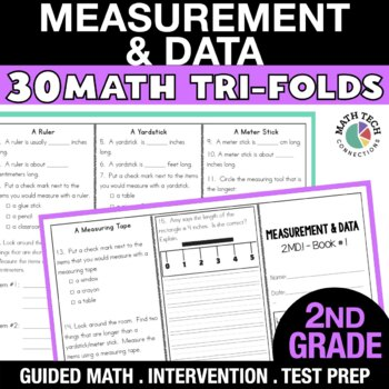 2nd Grade Measure Length & Time, Represent Data - 2.MD.1 -