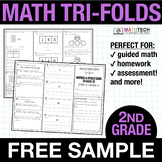 2nd Grade Math TriFolds - 5 FREE booklets