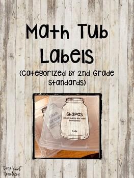 2nd Grade Math Tub Labels