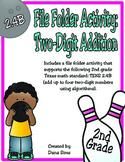 2nd Grade Math: Two-Digit Addition File Folder Activity (TEKS 2.4B)