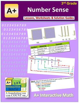 """3rd Grade Math Unit 1 """"Number Sense"""" - Lessons, Worksheets"""