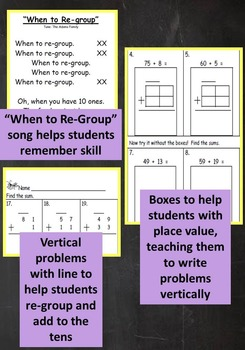 2nd Grade Unit: Two Digit Addition WITH Regrouping Problem Solving***PDF