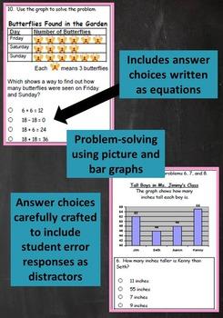2nd Grade Unit & Test: Two Digit Subtraction Problem Solving***ZIP