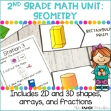 Geometry: Identifying Shapes, Rows and Columns, Fractions| A 2nd Grade Math Unit
