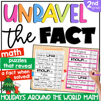 2nd Grade Math Puzzles | Unravel the Fact: Christmas Around the World Edition