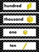 2nd Grade Math Vocabulary- Black and White
