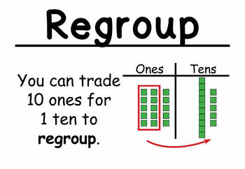2nd Grade Math Vocabulary Cards: 3-Digit Addition and Subtraction (Large)