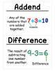 2nd Grade Math Vocabulary Cards: All Year Bundle (Large)