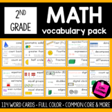 2nd Grade Math Vocabulary Cards {For The Whole Year} {Comm