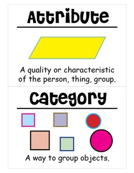 2nd Grade Math Vocabulary Cards: Pockets, Teeth, and Favorite Things (Large)