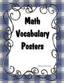 2nd Grade Math Vocabulary Posters