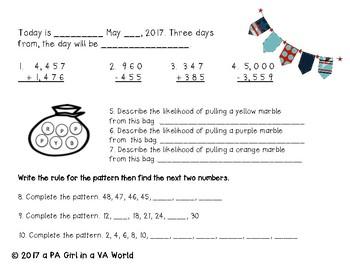 2nd Grade Math WarmUp: Entire Year Bundle