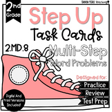 2nd Grade Math Word Problems Task Cards Multi-Step 2.MD.8 Money