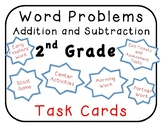 140 2nd Grade Math Word Problems Task Cards, centers Go Math, My Math, Envision
