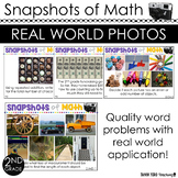2nd Grade Math Word Problems Using Photos in Math ALL STANDARDS TEST PREP