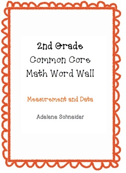 2nd Grade Common Core Math Word Wall Measurement & Data