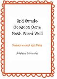 2nd Grade Common Core Math Word Wall Measurement & Data