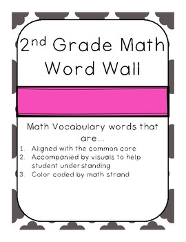 2nd Grade Math Word Wall
