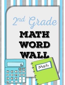 {FREE} 2nd Grade Math Word Wall