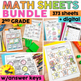 2nd Grade Math Worksheets Bundle | 2nd Grade Math Review Packet