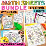 2nd Grade Math Worksheets Bundle   2nd Grade Math Review Packet