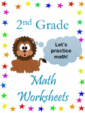 2nd Grade Math Worksheets ( CCSS 2.NBT.5  ,  CCSS 2.OA.1 )