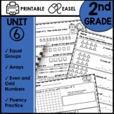 2nd Grade Math Worksheets Printable and TPT EASEL Module 6