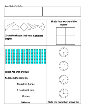 2nd Grade Math Year Review