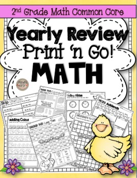 2nd Grade Math Yearly Review (NO PREP) Print N' Go