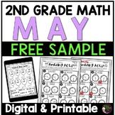 2nd Grade Math for May | Free Sample | Digital and Printable