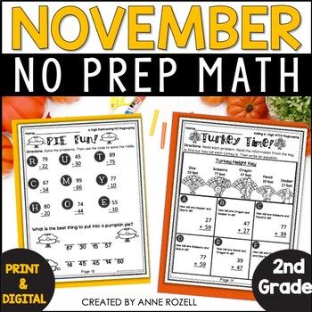 2nd Grade Math for November