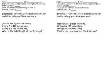 2nd Grade Math in Focus Book B (Ch. 11- 18) Exit Slip Bundle