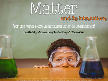 2nd Grade Matter Unit  {Quick Pack: Next Generation Scienc